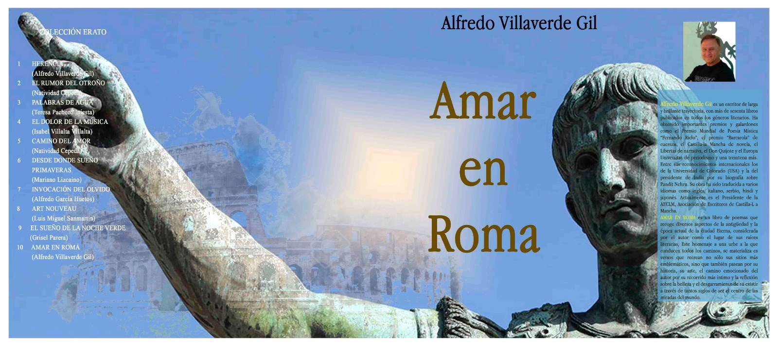 """Presentación del libro """"Amar en Roma"""" de Alfredo Villaverde Gil"""